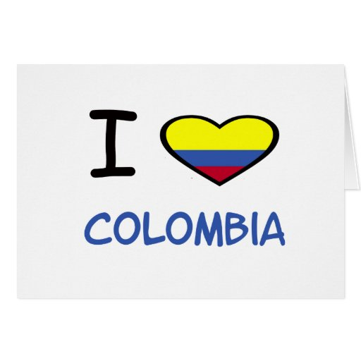I Heart Colombia Greeting Card