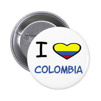 I Heart Colombia Pinback Button