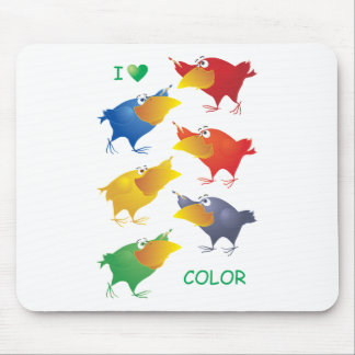 I Heart Color Mouse Pad