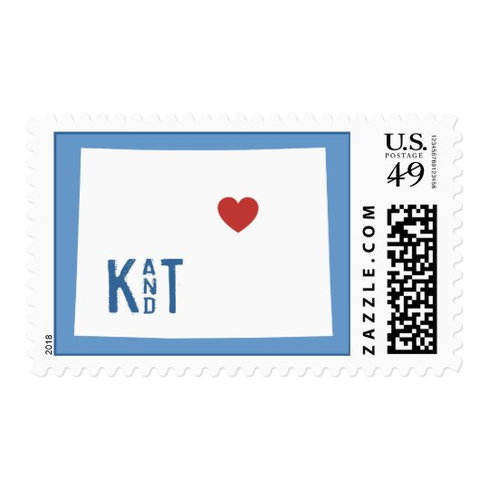 I Heart Colorado - Customizable City Stamp