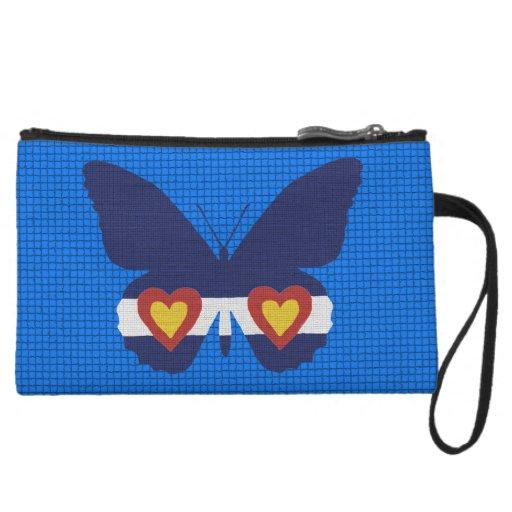 I Heart Colorado Flag, Butterfly Accessory Bag
