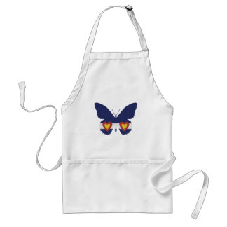 I Heart Colorado Flag Butterfly Products Adult Apron