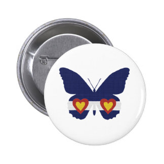 I Heart Colorado Flag Butterfly Products Button
