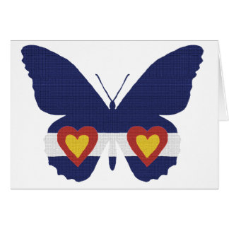 I Heart Colorado Flag Butterfly Products Card