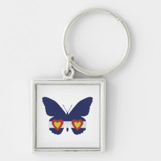 I Heart Colorado Flag Butterfly Products Keychain