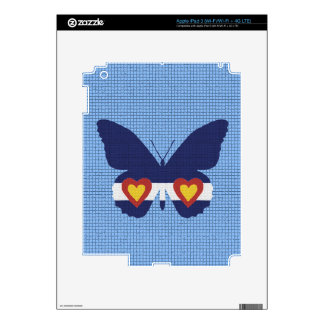 I Heart Colorado Flag Butterfly Products iPad 3 Skins