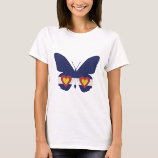 I Heart Colorado Flag Butterfly Products T-Shirt