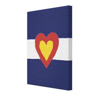 I Heart Colorado Flag Canvas Wall Art