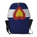 I heart Colorado Flag, Messenger Bag