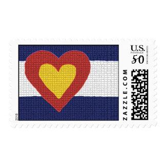 I Heart Colorado Flag Postage