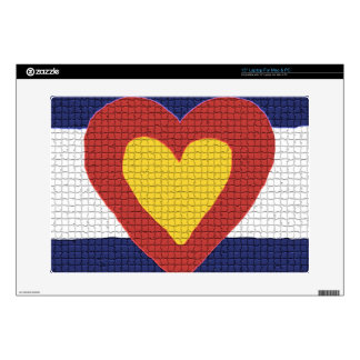 "I heart Colorado Flag Products! 15"" Laptop Decal"
