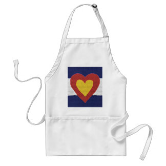 I heart Colorado Flag Products! Adult Apron