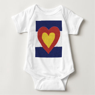 I heart Colorado Flag Products! Baby Bodysuit