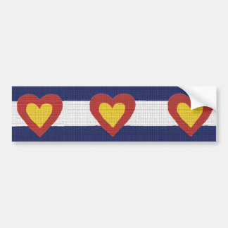 I Heart Colorado Flag Products! Bumper Sticker