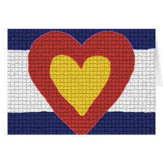 I heart Colorado Flag Products! Greeting Card