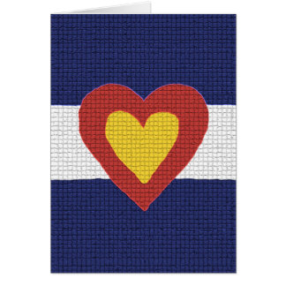 I Heart Colorado Flag Products! Card