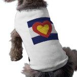 I heart Colorado Flag Products! Dog Clothing