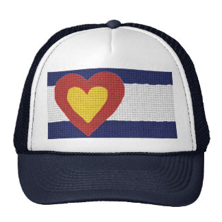 I heart Colorado Flag Products Mesh Hat