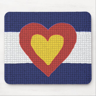 I Heart Colorado Flag Products! Mouse Pad