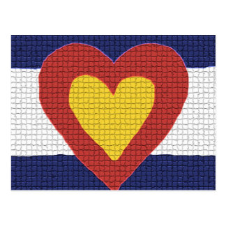 I heart Colorado Flag Products! Postcards