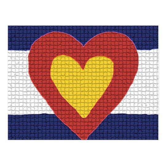 I heart Colorado Flag Products! Postcard