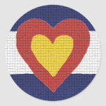 I heart Colorado Flag Products! Classic Round Sticker