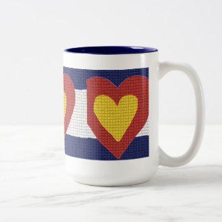 I heart Colorado Flag Products! Two-Tone Coffee Mug