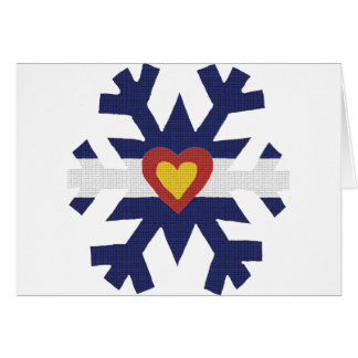 I Heart Colorado Flag Snowflake Card