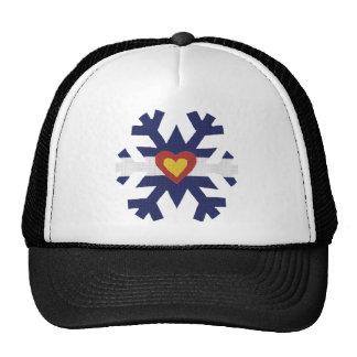 I Heart Colorado Flag Snowflake Trucker Hat