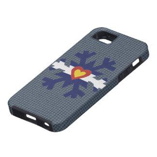 I Heart Colorado Flag Snowflake iPhone SE/5/5s Case