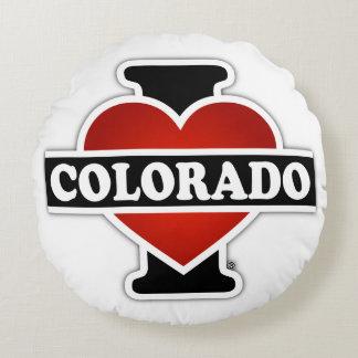 I Heart Colorado Round Pillow