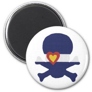 I Heart Colorado Skull! 2 Inch Round Magnet