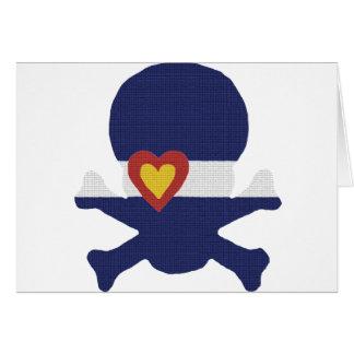 I Heart Colorado Skull! Card