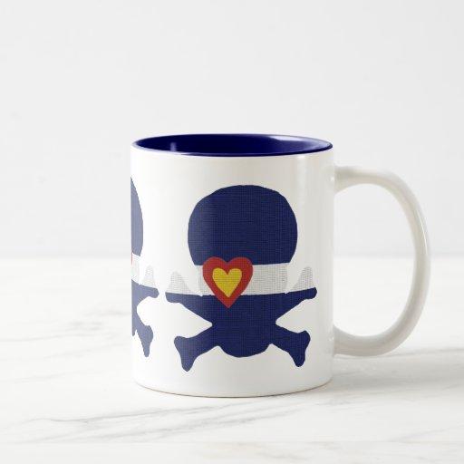 I Heart Colorado Skull! Two-Tone Coffee Mug