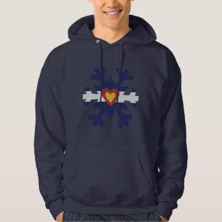 I Heart Colorado Snowflake TShirts! Hooded Pullover