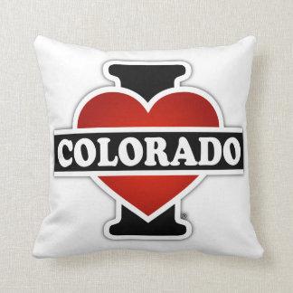 I Heart Colorado Throw Pillow