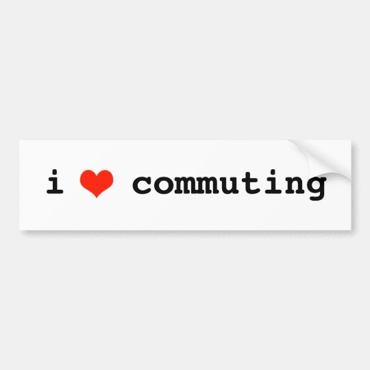 i heart commuting bumper sticker
