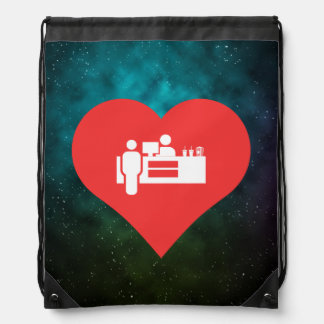 I Heart Concession Stands Icon Drawstring Bags