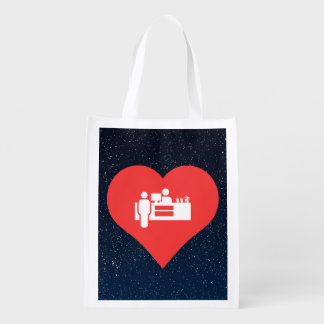I Heart Concession Stands Icon Reusable Grocery Bags