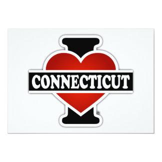 I Heart Connecticut 5x7 Paper Invitation Card