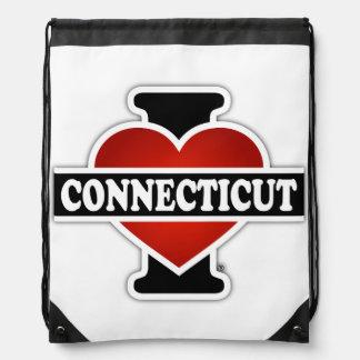 I Heart Connecticut Drawstring Bag