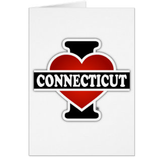 I Heart Connecticut Greeting Card