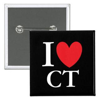 I Heart Connecticut Pinback Button