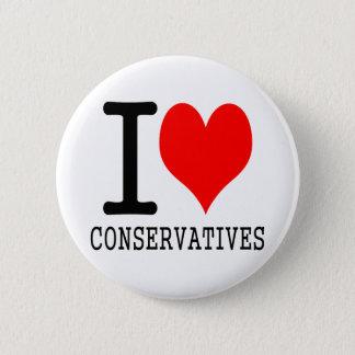 I heart conservatives button
