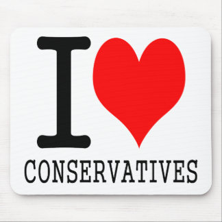 I heart conservatives mouse pad