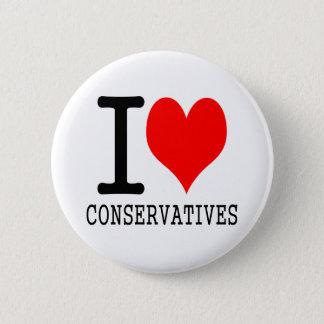 I heart conservatives pinback button