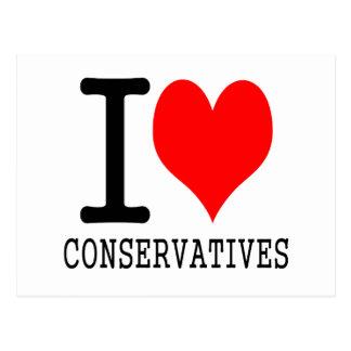 I heart conservatives postcard