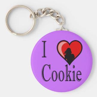 I Heart Cookie Basic Round Button Keychain