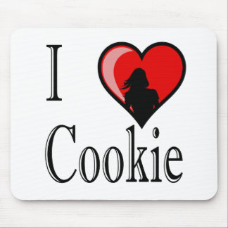I Heart Cookie Mouse Pad
