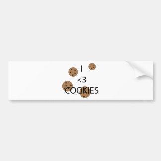 I heart cookies car bumper sticker